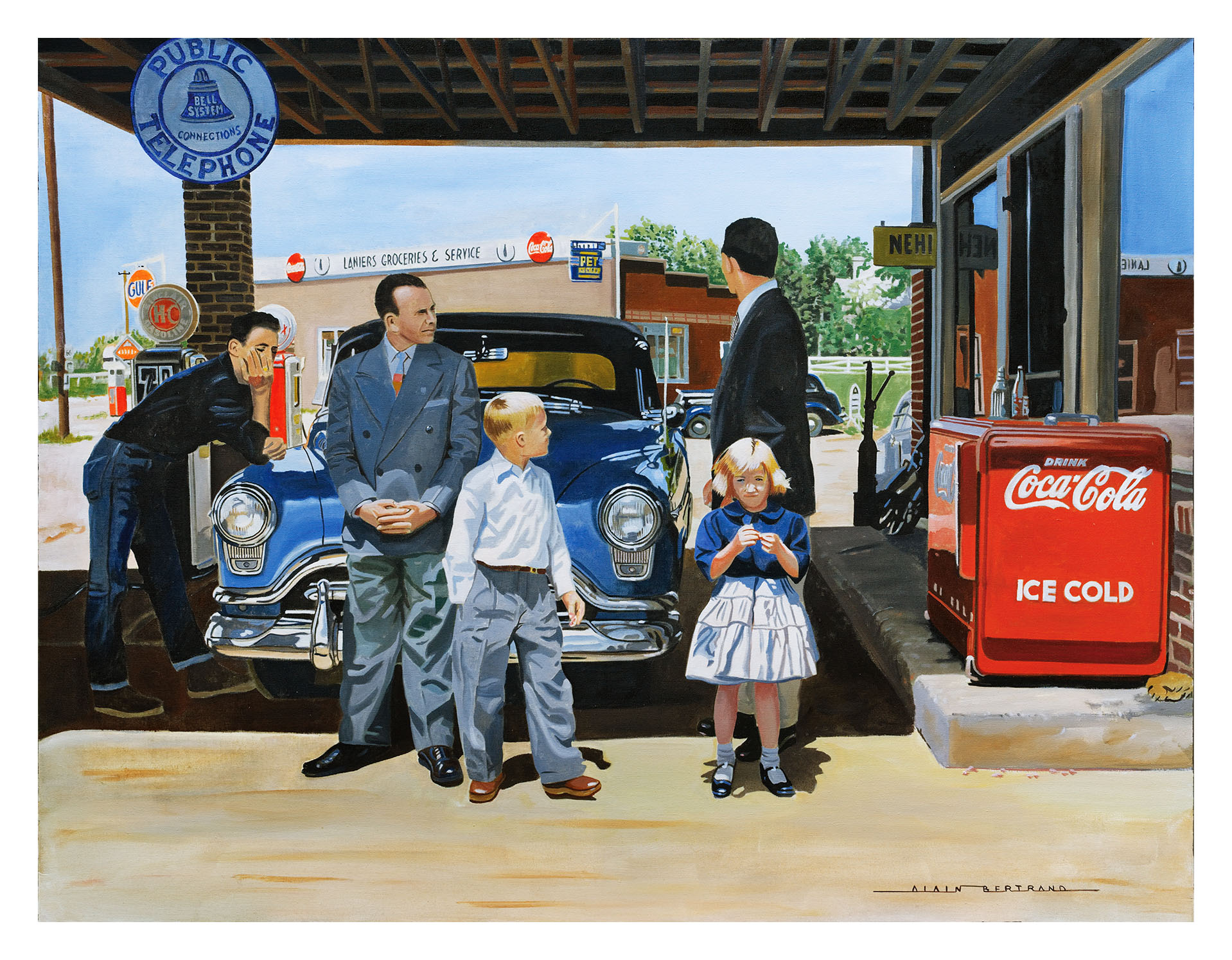 WAINTING IN THE SERVICE STATION 116X89