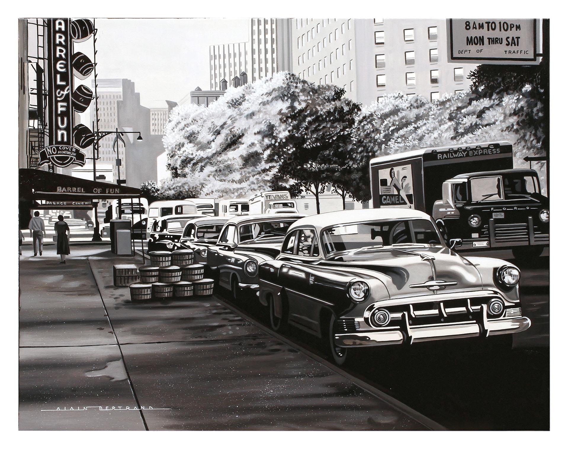 CHEVY IN NEW YORK STREET 92X73