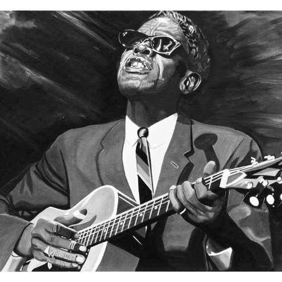 LIGHTNIN HOPKINS 73X60