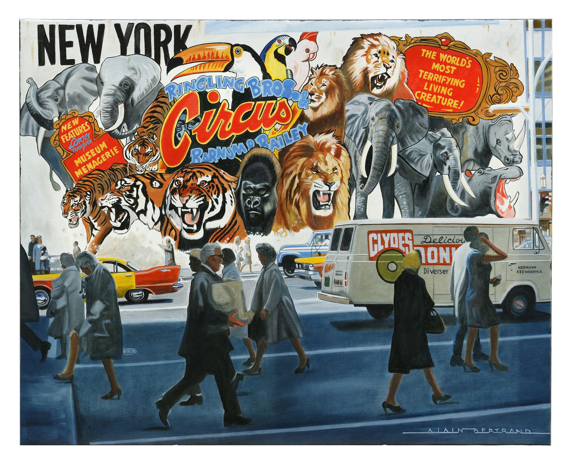 NEW YORK CIRCUS 92X73