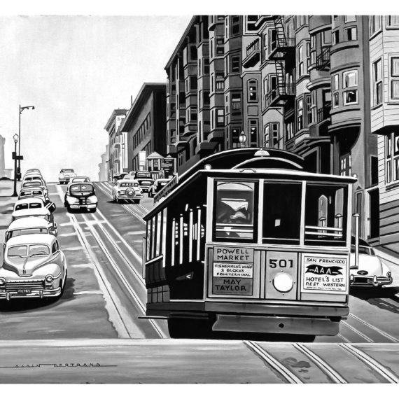 SAN FRANCISCO CABLE CAR 73X60