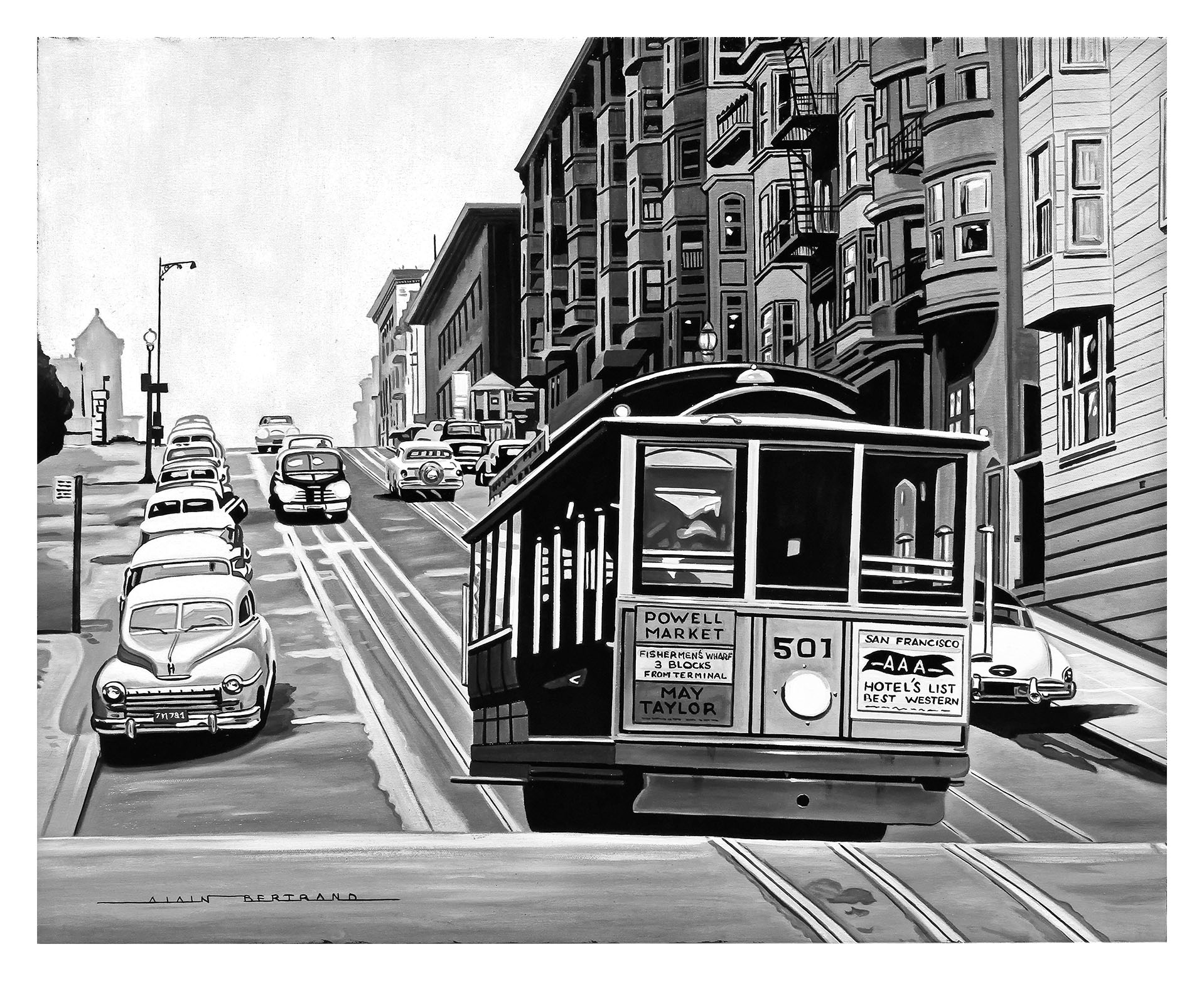 SAN FRANCISCO CABLE CAR 73X60