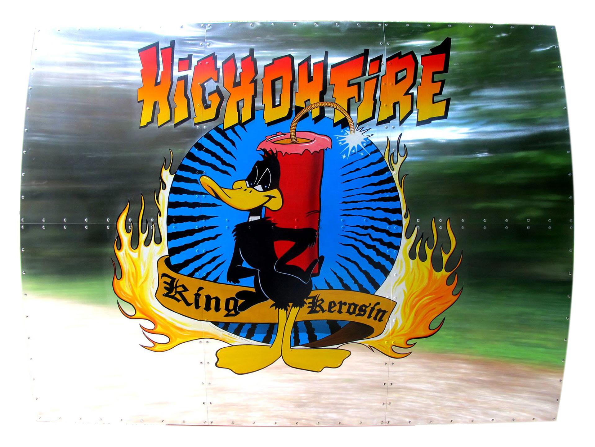 NOSE ART HIGHT ON FIRE 120X160
