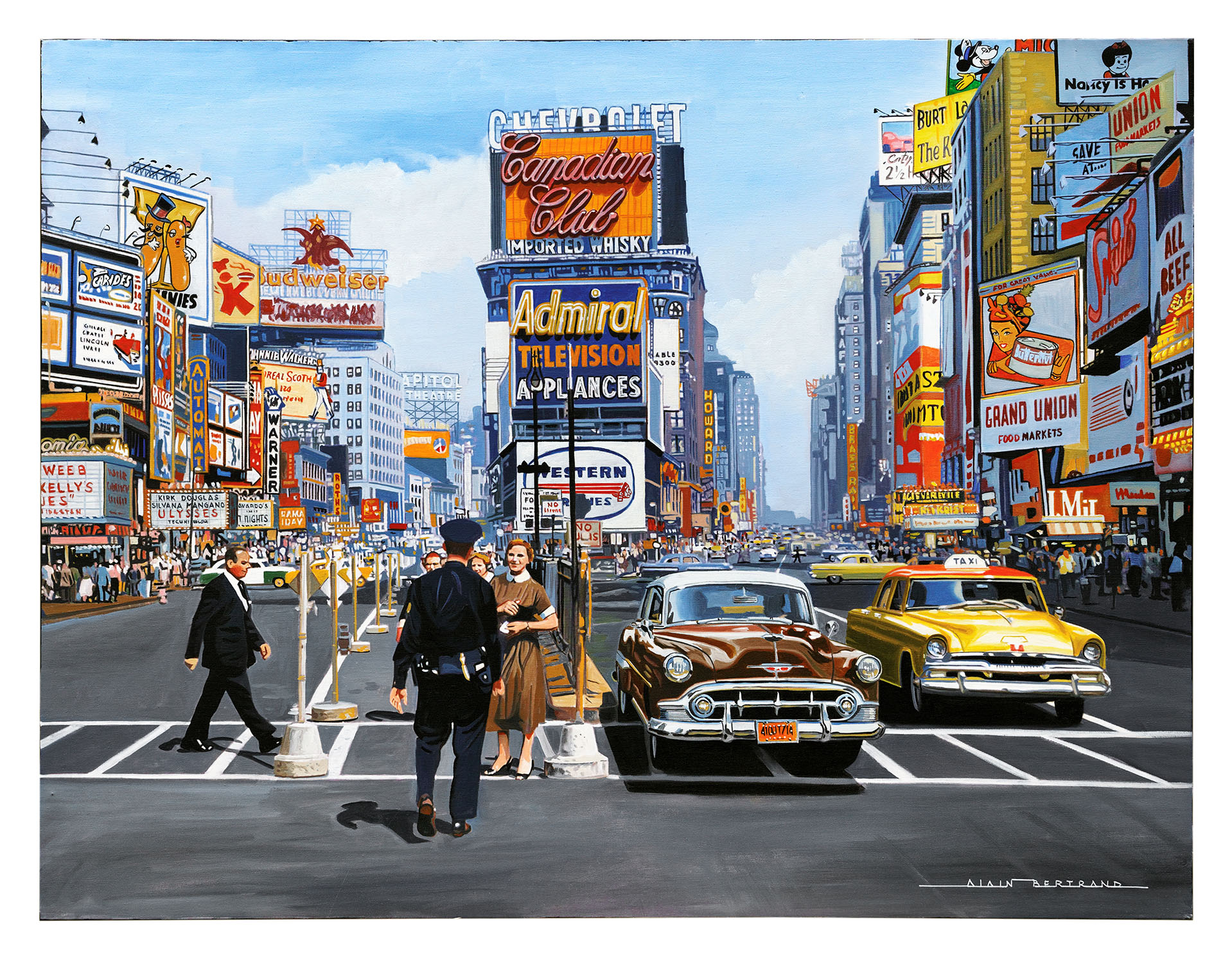 TIME SQUARE 1955 130x97