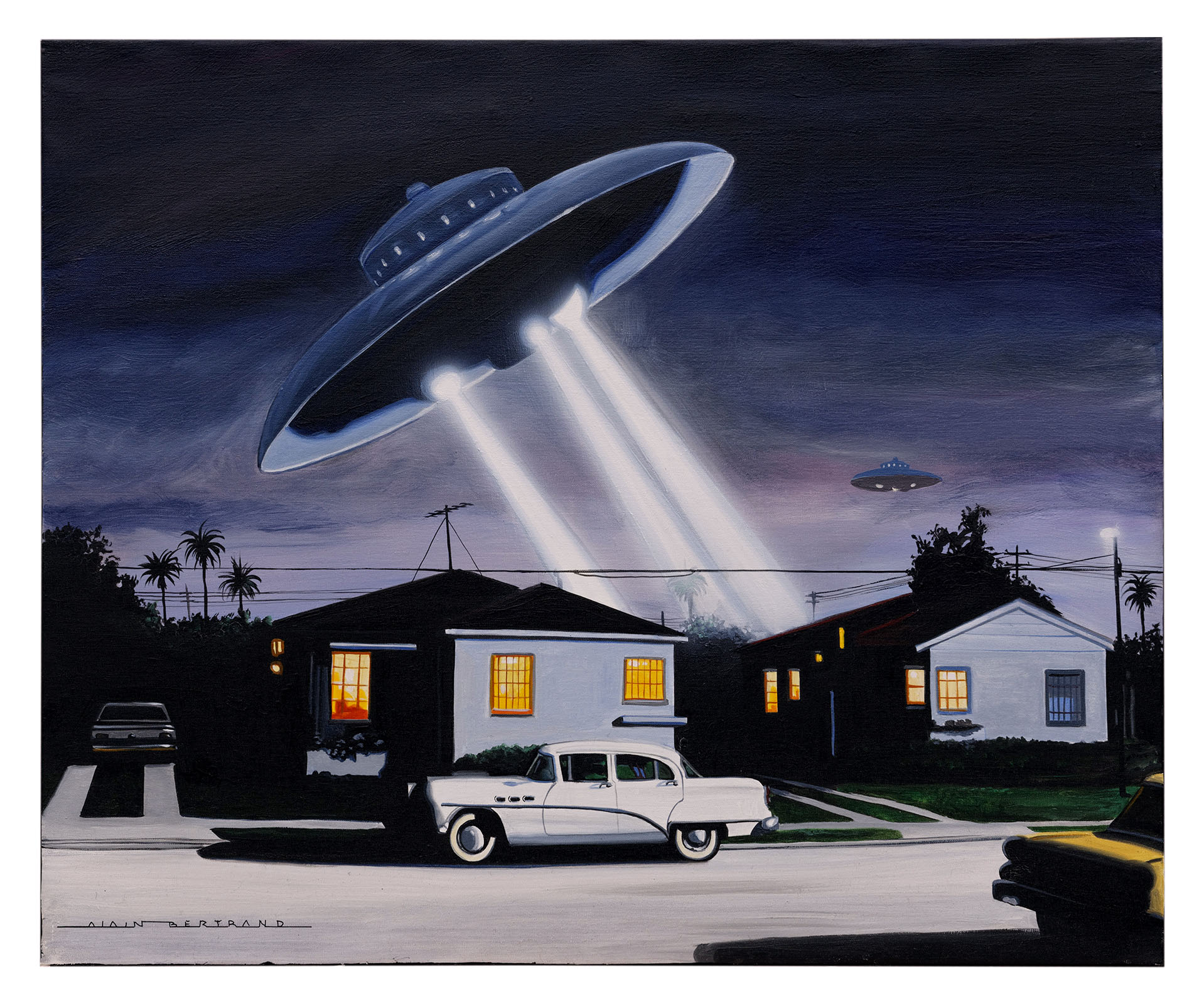 FLYING SAUCERS ON LA 73X60