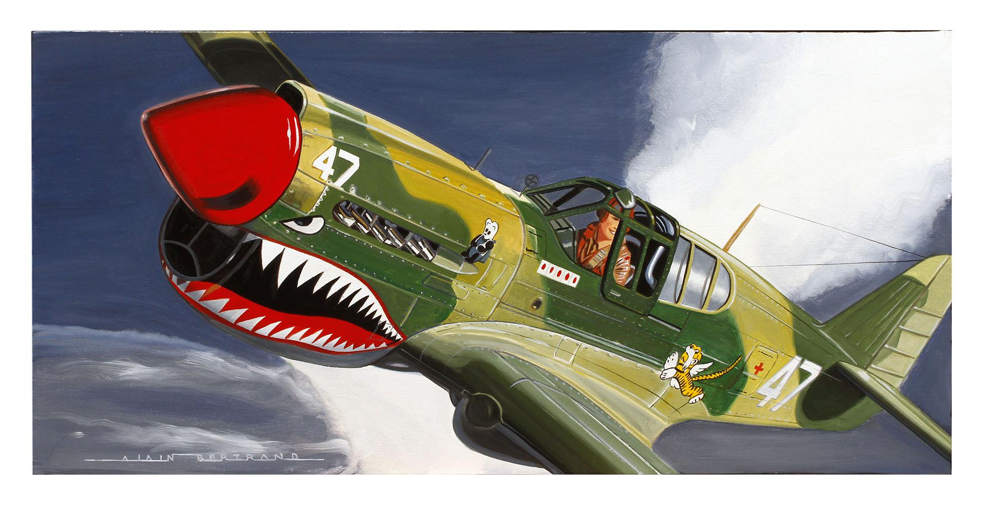 P40 FLYING TIGER 80X40