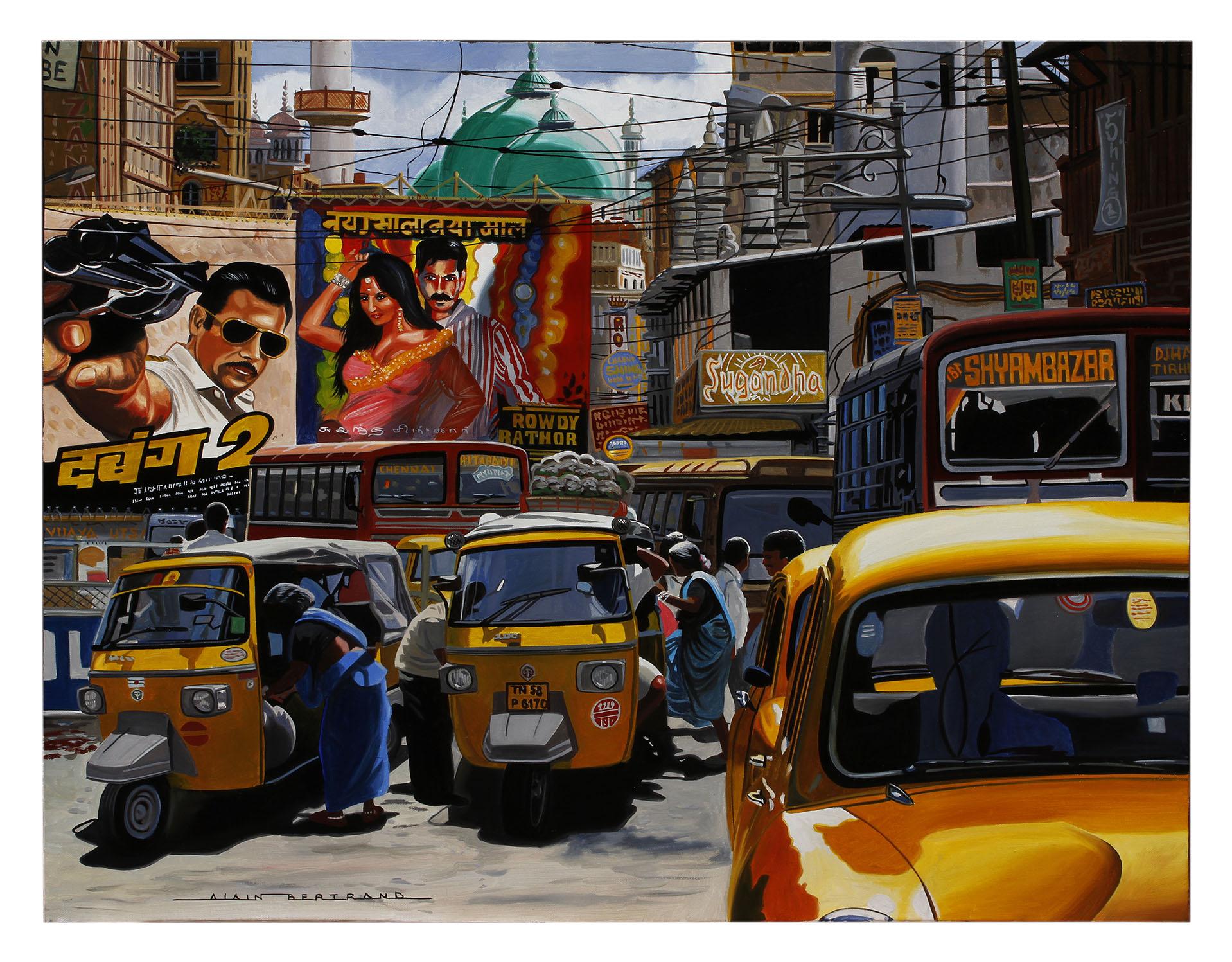 STREET OF MUMBAI 92x73
