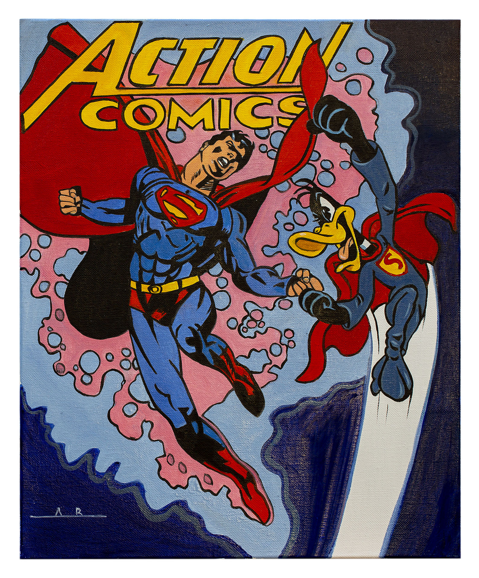 SUPERMAN VS DAFFY 41X33