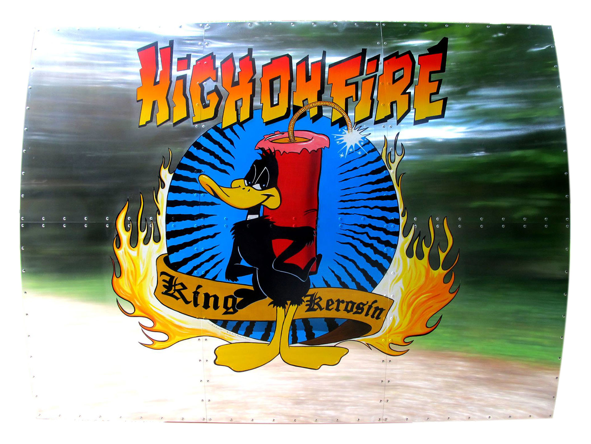 NOSE ART HIGHT ON FIRE 120X160