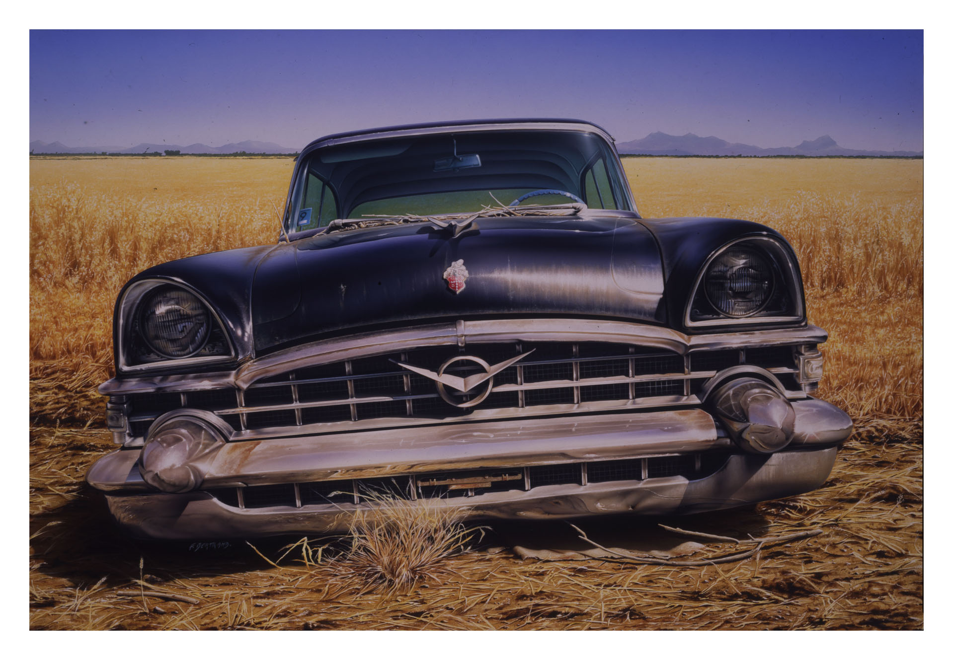 Packard in the field 116 X 89 CM